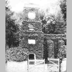 Ivy covered tower - the Clock Tower, North Malvern