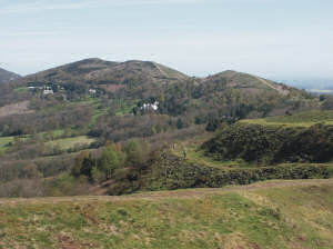 View from the ramparts of British Camp, Herefordshire Beacon (looking north.